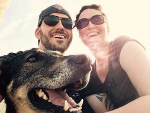 Das Team mit Hund